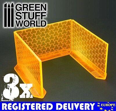 3x Big Energy Walls - Phosphorescent Orange Scenery Warhammer 40k Infinity Game