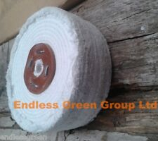 """8"""" Stitched Cotton Buffing Wheel  200mm x 50mm  ideal Metal Polishing Mop C200/4"""