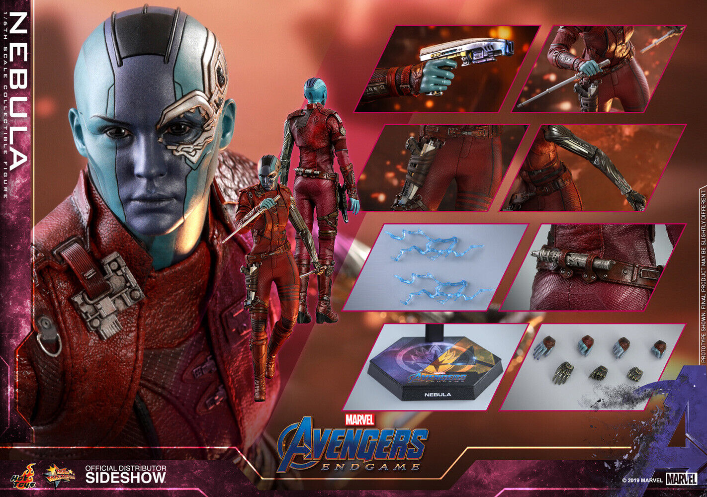 Hot Toys Nebula Avengers Endgame 1:6 Scale Figure Guardians Of The Galaxy MMS534 on eBay thumbnail