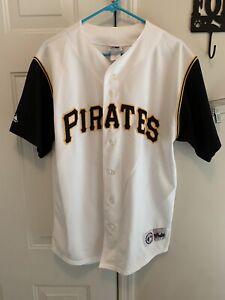 Vtg 90s Majestic Pittsburgh Pirates MLB Jersey Mens Size Large