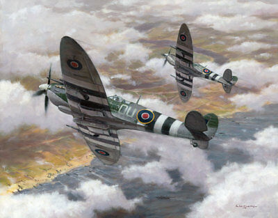 Supermarine Spitfire IX 308 Squadron Polish Aircraft Aviation Art Print