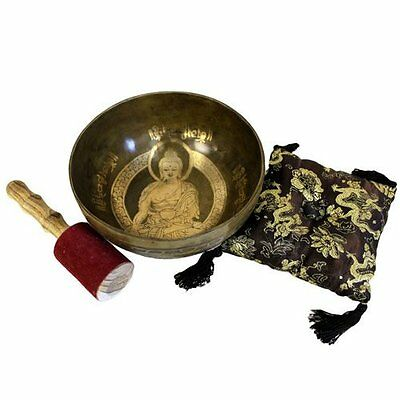 Tibetan Singing Bowl Gift Set,Cushion, Gift Box, Buddhism, Meditation, Healing