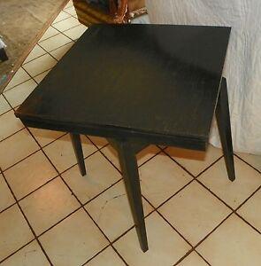 Image Is Loading Oak Black Distressed Mid Century Swivel TV Table