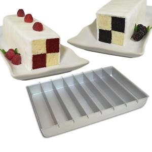 STAX PAN SHEET CAKE PAN WITH PAN DIVIDERS CHECKERBOARD