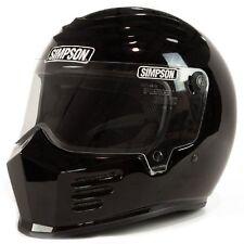 Simpson Outlaw Bandit Helmet  - Gloss Black Size L - FREE SHIPPING (USA)!