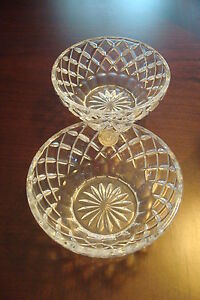 Lenox-crystal-pair-of-bowls-made-in-Czech-Republic-NEW-NO-BOX