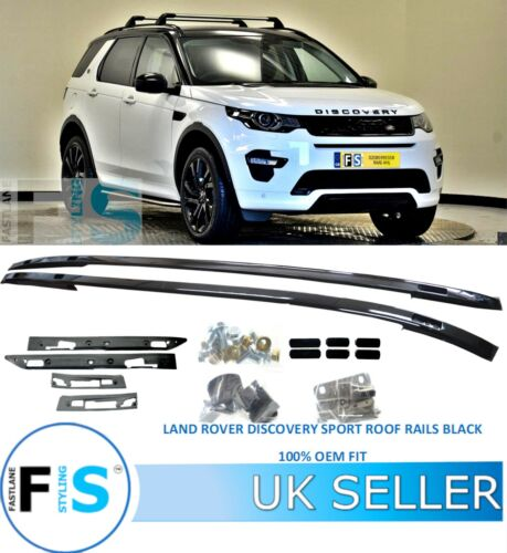 ROOF RAILS BARS RACK GLOSS BLACK OEM LAND ROVER DISCOVERY SPORT LC//L550 2015