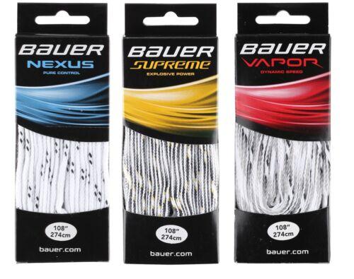 "Vapor 120/"" Supreme Unwaxed 72/"" 108/"" 96/"" Bauer Hockey Skate Laces Nexus 84/"""