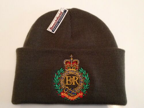 British Army Units Woolly Beanie Woolly Turn Up Hat Royal Engineers