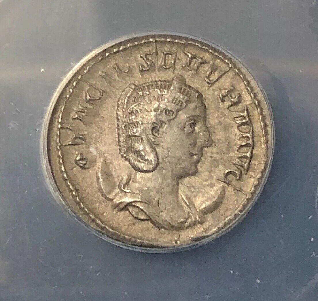 AD 247 Roman Otacilia Severa, AR Antoninianus, Rome Mint NH594