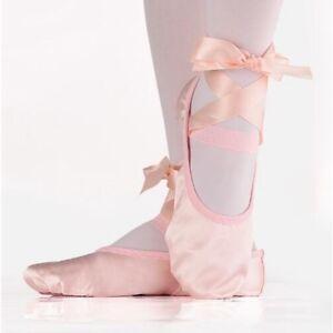 Ladies Kids Pink Ballet Pointe Shoes