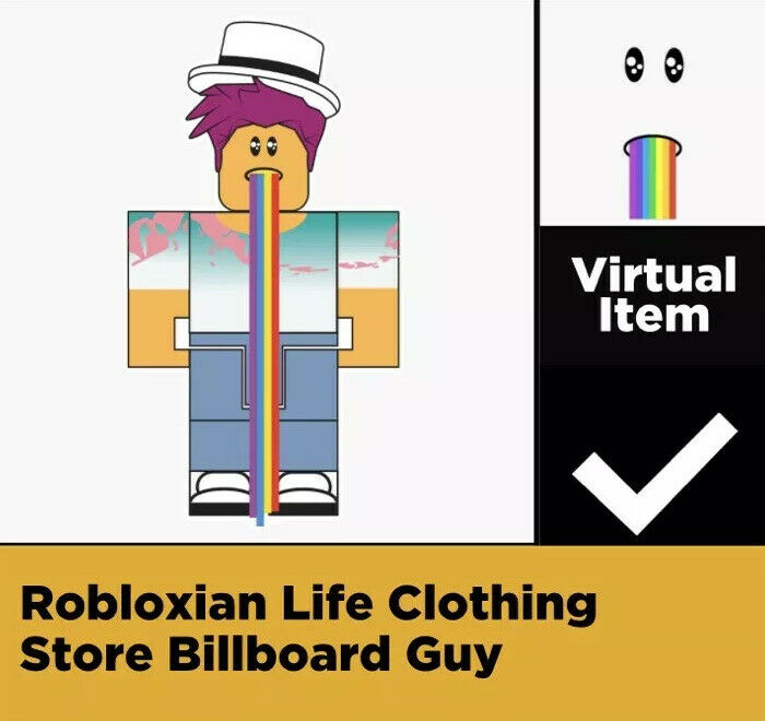 Billboard Guy Roblox Virtual Game Code Only Celebrity Series 2