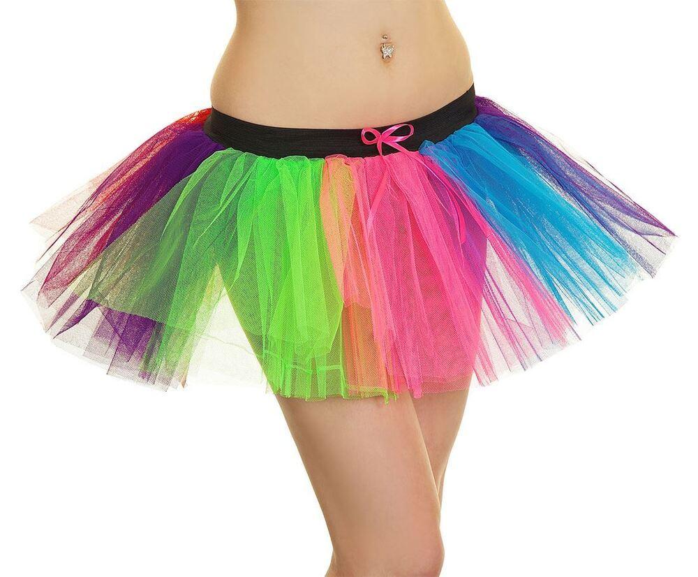 Bottes femme noires Multicolor Trim Layered Tutu Jupe Femmes 3 Couche Fancy Party Jupe