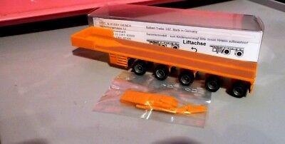 100% QualitäT Ballasttrailer Orange 5 Achsen Liftachse Schwerlast Bau Trailer 1:87 Vk Modelle