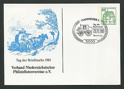 Brd Privat-ga 1981 Tag Der Marke Pferde-kutsche Pferd Horse Hannover D6159 Supplement Die Vitalenergie Und NäHren Yin