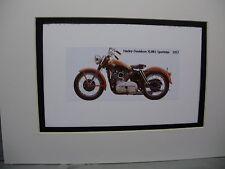 1957 Harley Davidson XL883 Sportster  Motorcycle Exhibit Celebration artist