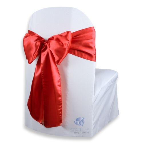 "50 pcs Satin Chair Cover Bow Sash 108/""x8/"" Wedding Party Banquet Reception"