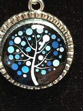 """Tree of Life Winter Moonlight Charm Tibetan Silver with 18"""" Necklace A4A"""
