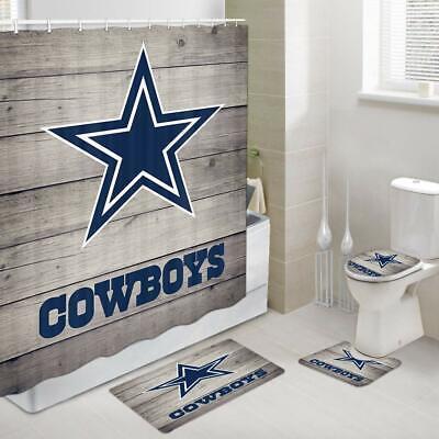 Rustic Dallas Cowboy Shower Curtain Set