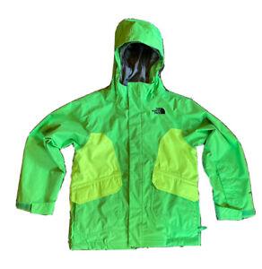 The North Face Boy's Size Small S 7/8 HyVent Windbreaker Green Rain Jacket Coat