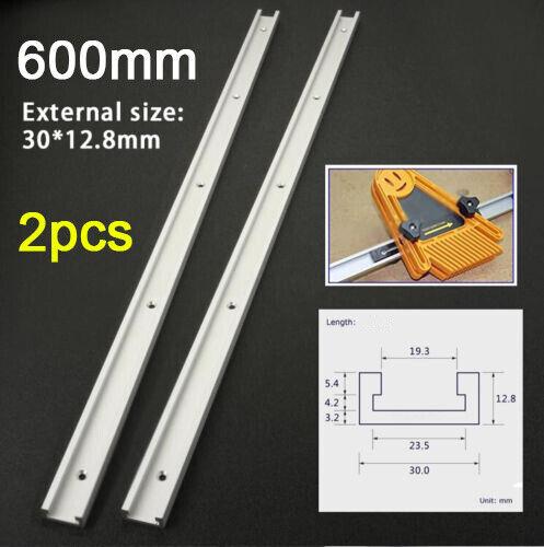 2 pcs 600 mm T-fente T-pistes claveaux Track Jig Luminaire Fente Outil Pour Routeur Table