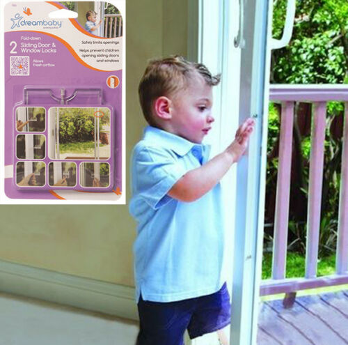 DreamBaby 2 Sliding Door /& Window Locks Baby Proofing Latches Child Safety