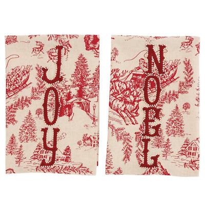 Mud Pie Joy Toile Towel
