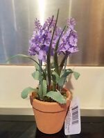 Floral Garden Potted Lavender Spring Easter Window Artificial Flower Plant Faux