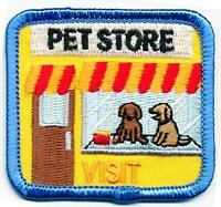 girl/boy cub PET STORE VISIT tour Fun Patches Crests Badges GUIDE SCOUTS Iron On