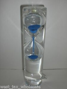 Floating Hourglass Clear Glass Blue Water Sand Timer Desk