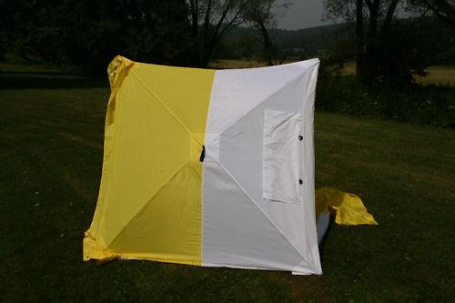 Lötzelt Aufbau in 30 Sekunden Montagezelt Bauzelt Regenschutz