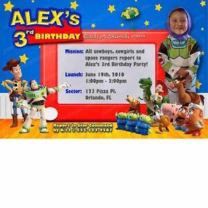 Toy-Story-Invitation-20-Custom-Personalized-Birthday-Party-Invites-Woody-Buzz