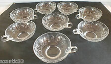 8 coupes fruits tasses cristal crystal cup