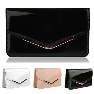 Women-PU-Leather-Handbag-Crossbody-Bag-Clutch-Evening-Bag-Envelope-Purse-Wallet