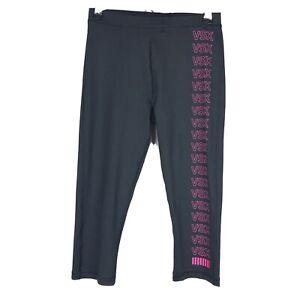 Victorias-Secret-XS-Knockout-VSX-Womens-Crop-Leggings-Black-Capri-Yoga-Run-Gym