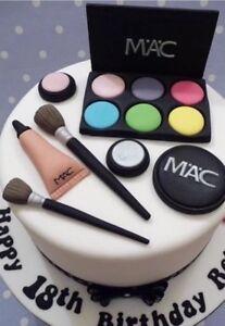 Terrific Mac Edible Make Up Cosmetic Cake Topper Decoration Birthday Personalised Birthday Cards Sponlily Jamesorg