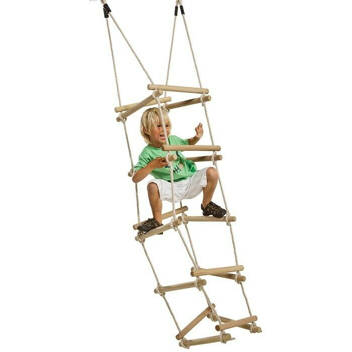 Wooden Rung Rope Ladder 4 Sides