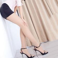 Solid Skin Transparent Full Foot Slim Tights Stocking Long Sock
