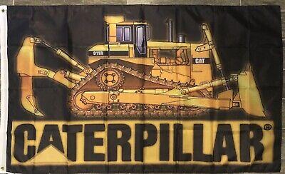 Caterpillar D11R Tractor Logo 3X5 Garage Shop Wall Banner Flag FREE SHIPPING