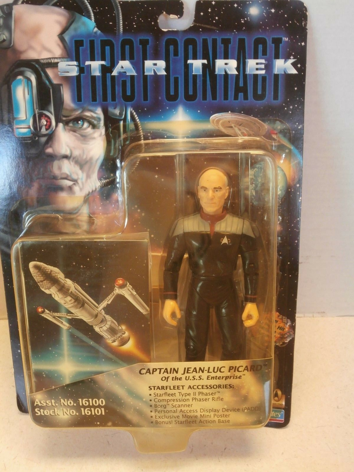 STAR TREK FIRST CONTACT CAPTAIN JEAN-LUC PICARD OF THE U.S.S. ENTERPRISE TOY