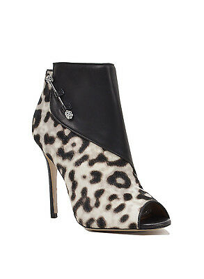 Julesa Peep Toe Leather Ankle Boot by Badgley Mischka