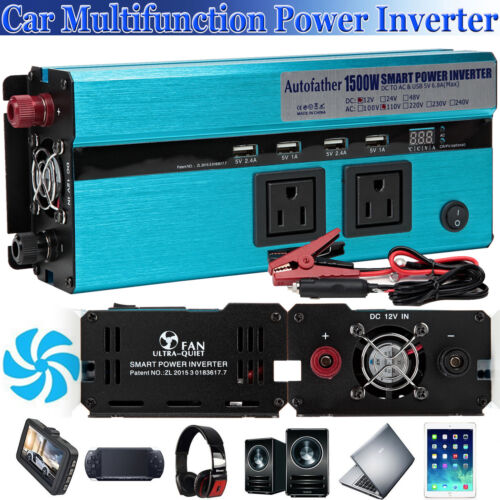 New 1500//3000W DC 12V to AC 110V Car Power Inverter Electronic Charger Converter