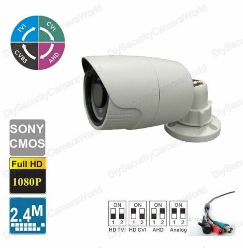 HD 2.4MP Security Bullet Camera 18IR 2.8mm Wide angle Lens In//Outdoor BNC
