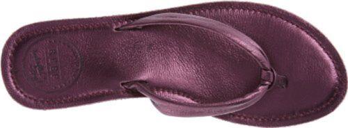 NEW Reef Women/'s Creamy Leather Metalic Flip Flops Plum Size 11 $51.99 Retail