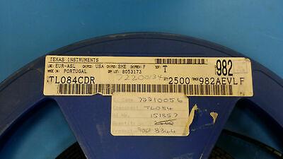 TI TL084CD J-FET Amplifier 4 Circuit 14-SOIC **NEW** Qty.10