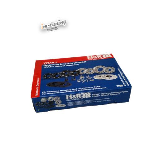 H/&r ABE PASSARUOTA NERO per BMW m3 m390//DR 24 = 2x12mm con FS spacer