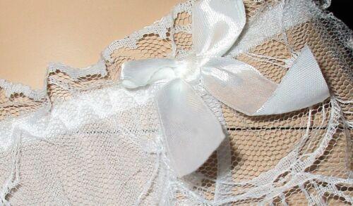 TAGLIA XS-S Bianco con Pizzo e lavorato string perizoma NUOVO Cintura straps