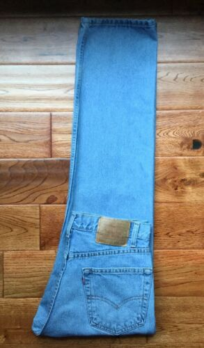 uomo 33x32 Fit da 505 Levis Vtg True Regular gamba a Jeans dritta Incredibile Raro 7n04xWx