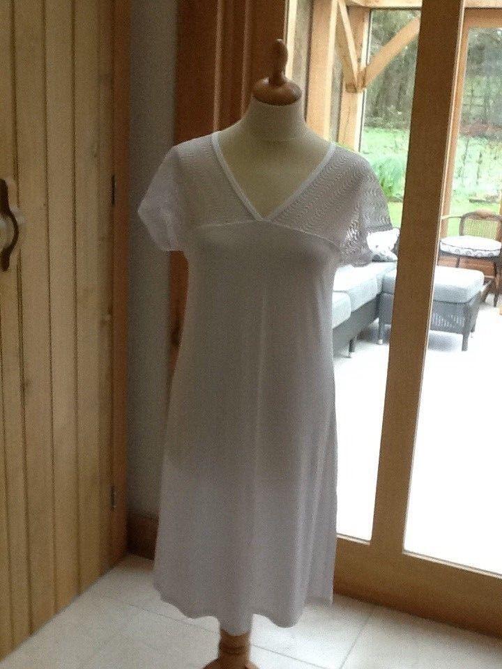 Antigel Lise Charmel Beach Dress   Night Dress White UK Small   NWT