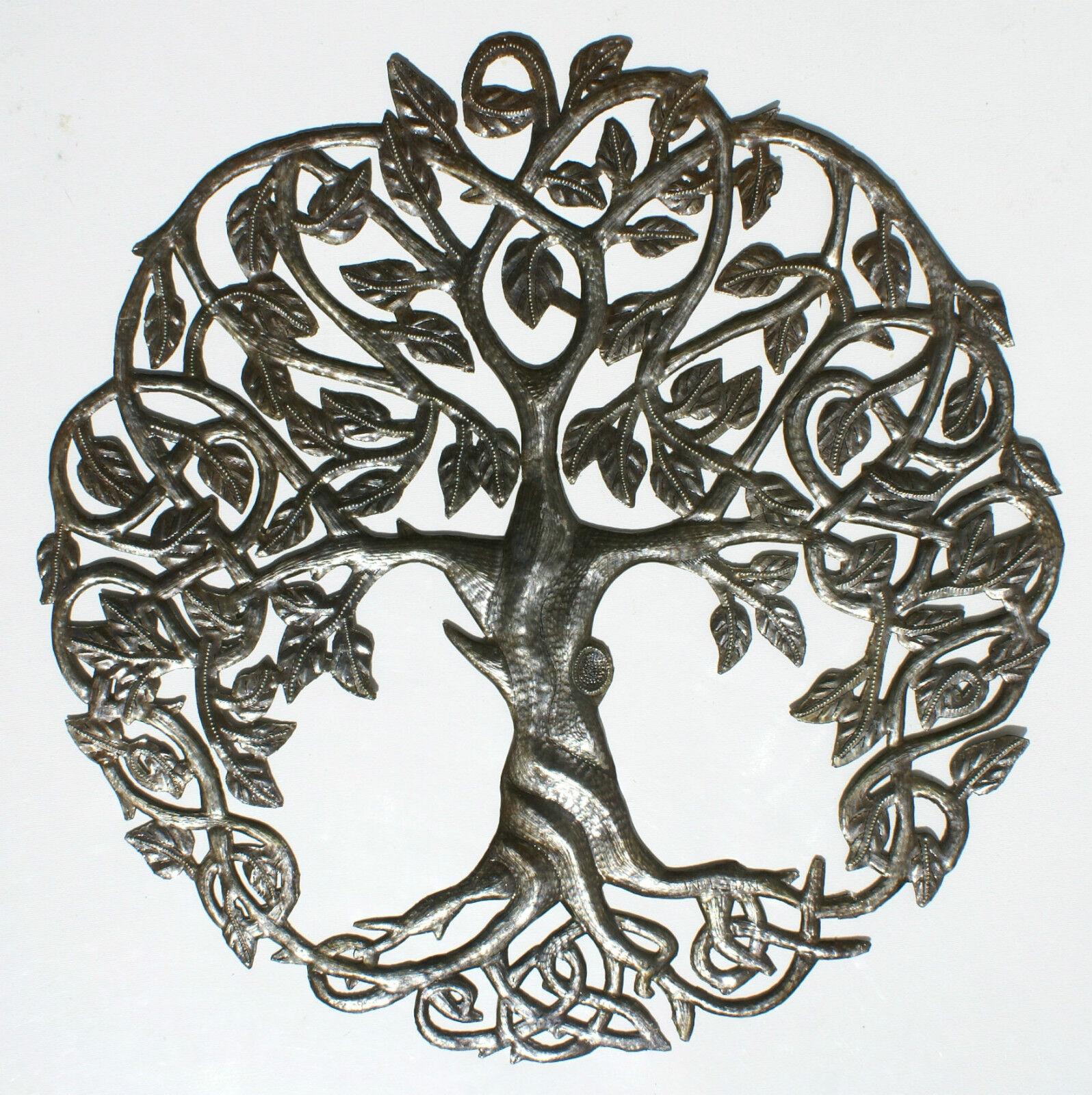 Árbol de la Vida hecho a mano de metal reciclado arte decoracion de parot 60cm